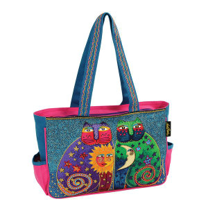 Laurel Burch Fantastic Feline Totem Medium Tote Bag - LB5123