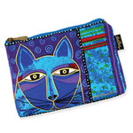 Laurel Burch Whiskered Cats Cosmetic Bags Blue LB5321E