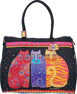 "Laurel Burch ""Feline Friends""  Overnighter Travel Tote - LB773"