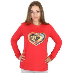 "Laurel Burch Long Sleeve Tee Shirt ""Heart of my Heart"" - LBC212"