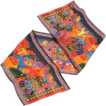"Laurel Burch Silk Scarf   ""Fantasticats"" - CATS - LBS148"