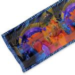 "Laurel Burch Silk Scarf ""Wild Horses of Fire"" - LBS177"