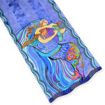 Laurel Burch Classic Silk Fabric Scarf Sea Dreams LBS191