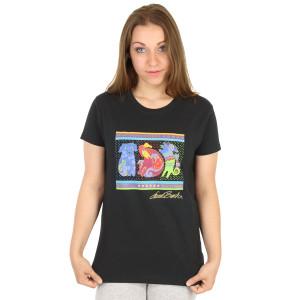 "Laurel Burch Tee Shirt ""Dogs & Doggies"" Black Size Small - LBT004"