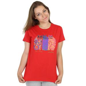 """Laurel Burch 2011 Tee Shirt """"Feline Friends"""" - LBT018"""