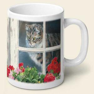 Window Cat Theme Mug MUG-188