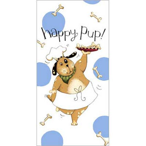 Happy Pup Flour Sack Cotton Towel R2643