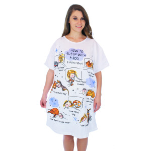 "Sleep Shirt or Coverup ""How to sleep with a Dog"" 507"