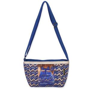 Laurel Burch Blue Azul Cat Small Crossbody Tote Handbag