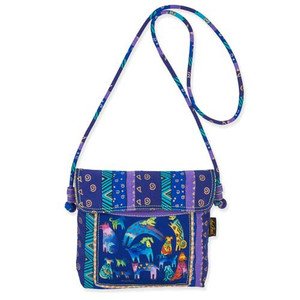 Laurel Burch Mythical Dogs Crossbody Tote
