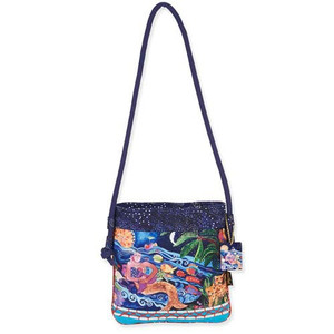 Laurel Burch Ocean Song Crossbody Tote