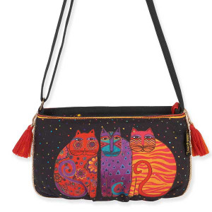 Laurel Burch Feline Crossbody Bags Black