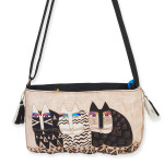 Laurel Burch Feline Crossbody Bag Ivory Creme