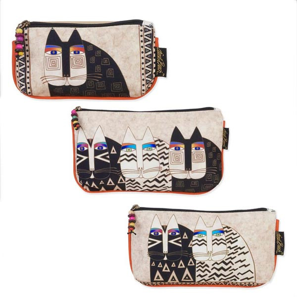Laurel Burch Set of 3 Cosmetic Bag Wild Cat Faces Small. See 3 more pictures bc6768f760