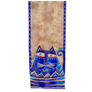 Laurel Burch Azul Cat Silk Scarf