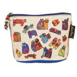 Laurel Burch Feline Minis Clutch Cosmetic Pouch Floating Cats