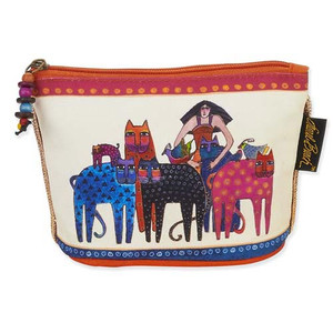 Laurel Burch Feline Minis Cosmetic Clutch Pouch Friends Cat Bag