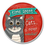 Time Spent with Cats Coaster for Car - 03-290