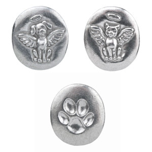 """Pewter Pocket Token Set of 3 """"Always With You"""""""