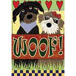 WOOF Dog Garden Flag JFL069