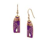 Siamese Cats Laurel Burch Earrings Purple 5020