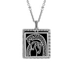 Embracing Horses Laurel Burch Necklace Black 5043