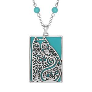 Elijah's Garden Laurel Burch Necklace Turquoise 5047