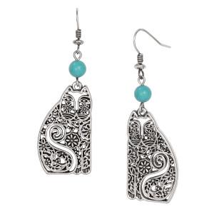 Elijah Laurel Burch Earrings Turquoise 5049