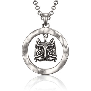 Whirly Cat Laurel Burch Necklace 5060