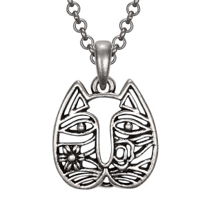 Cat Face Laurel Burch Necklace 5063