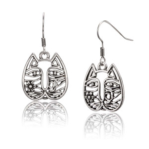 Cat Face Laurel Burch Earrings 5064