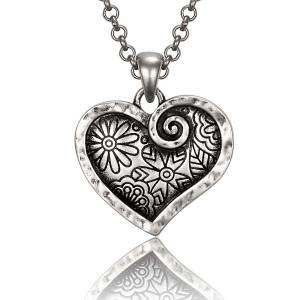 Blooming Heart Laurel Burch Necklace 6092