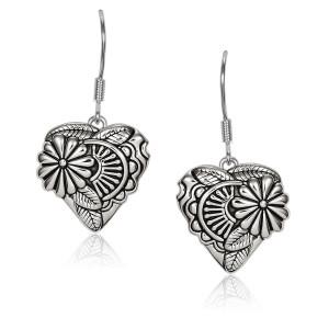Flowering Heart Sterling Silver Laurel Burch Earrings - 4025