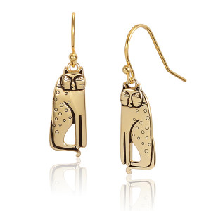 Siamese Gold Laurel Burch Earrings 4038