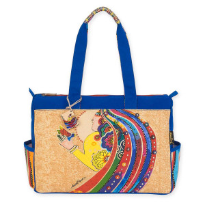 Laurel Burch Rose With Bird Medium Tote LB5792