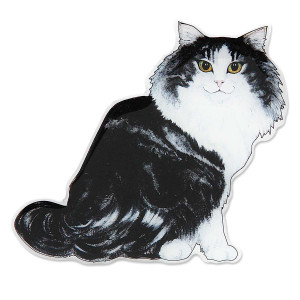 Long Hair Norwegian Cat Shaped Magnet 45563