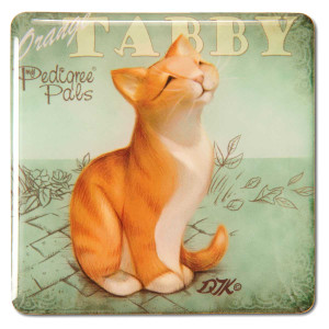 Orange Tabby Square Cat Magnet 46066
