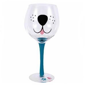 Dog Puppy Face 18oz Wine Glass 40216