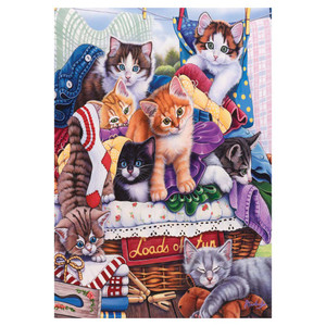 Basket Kittens Fun Cats Garden Flag - GFBL-GE0007