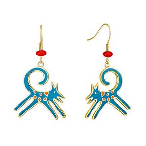 Felicity Blue Laurel Burch Earrings - 5081