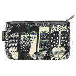 Laurel Burch 10x6 Cosmetic Bag Wild Cat Black White LB5804C