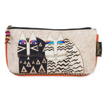 Laurel Burch Set of 3 Cosmetic Bag Wild Cat Faces Medium