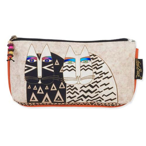 Laurel Burch Set of 3 Cosmetic Bag Wild Cat Faces Medium