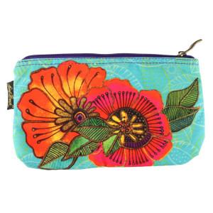 Laurel Burch 10x6 Cosmetic Bag Colorful Flora Floral LB5824C