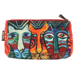 Laurel Burch 10x6 Cosmetic Bag Gatos Cat LB5874C