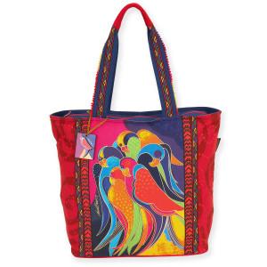 Laurel Burch Pajaros Parrots Shoulder Tote - LB5890