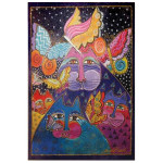 Laurel Burch Canvas Felines Flytterbyes Cat 10x15 Wall Art LB26030