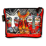 Laurel Burch 10x6 Foil Cosmetic Bag Gatos Cat
