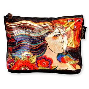 Laurel Burch 10x6 Foil Cosmetic Bag Mikayla