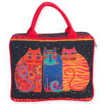 Laurel Burch Large Cosmetic Bag Feline Friends